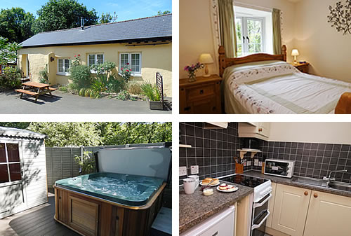 Comfortable furnished holiday cottage for four in the countryside near Widemouth Bay
