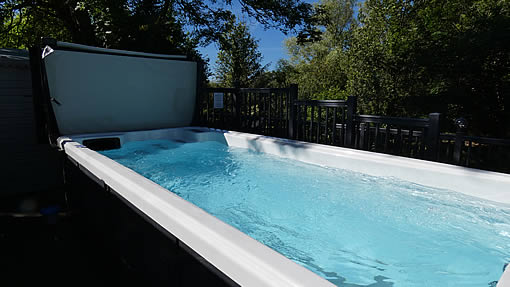 Five metre shared heated outdoor swimming pool